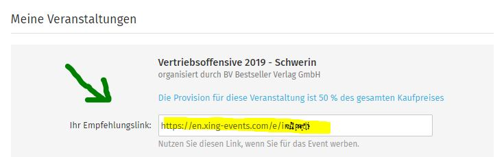 Affiliate Programm XING-Events