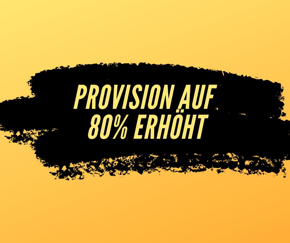 80% Provision auf die Affiliate Offensive