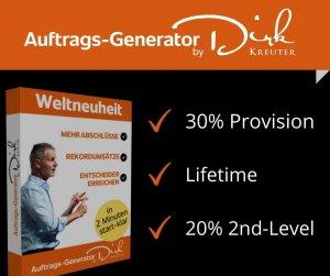 Auftrags-Generator by Dirk Kreuter - 30% Lifetime-Provision